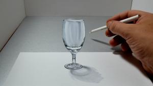 Nevjerojatni crtež čaše vode