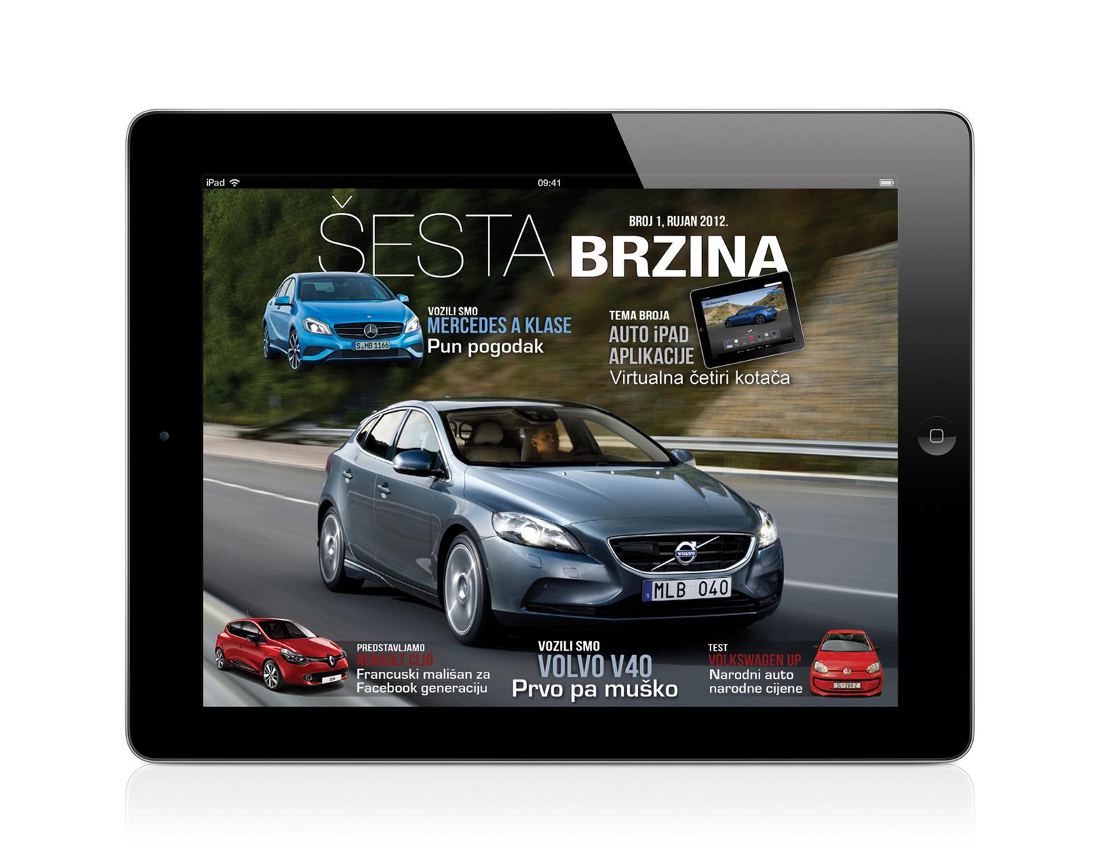 Šesta brzina – besplatan iPad magazin o automobilima